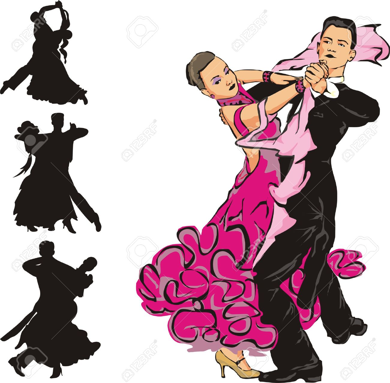 社交ダンスのイラスト素材ベクタ Image 8524805