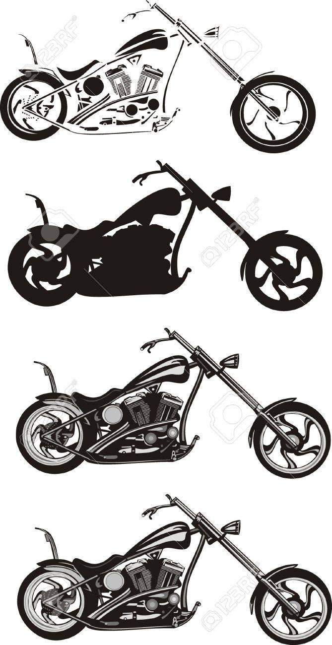 motorcycle - chopper Stock Vector - 8609959