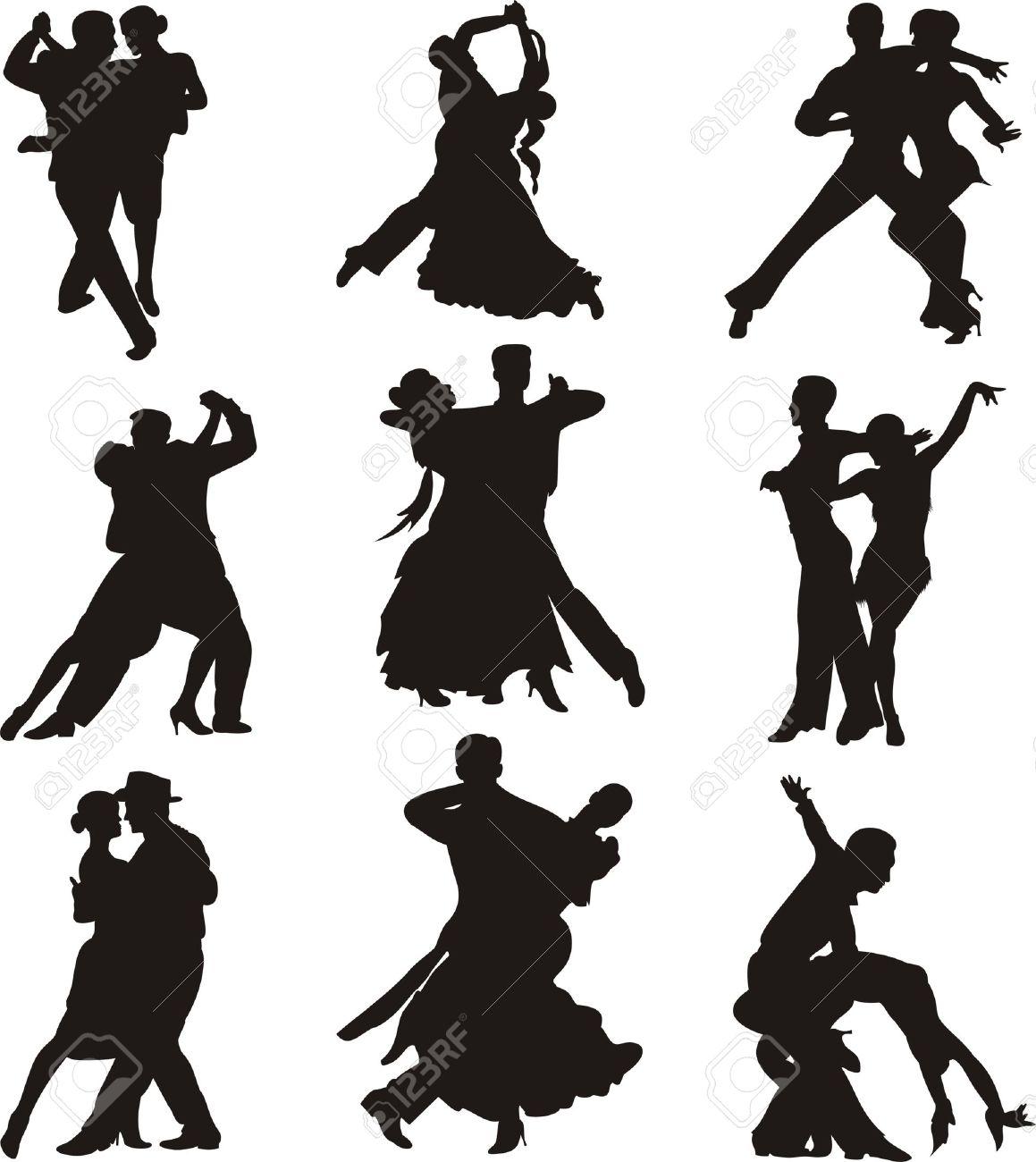 Ballroom Dancing Silhouette Vector ballroom dancing - silhouette