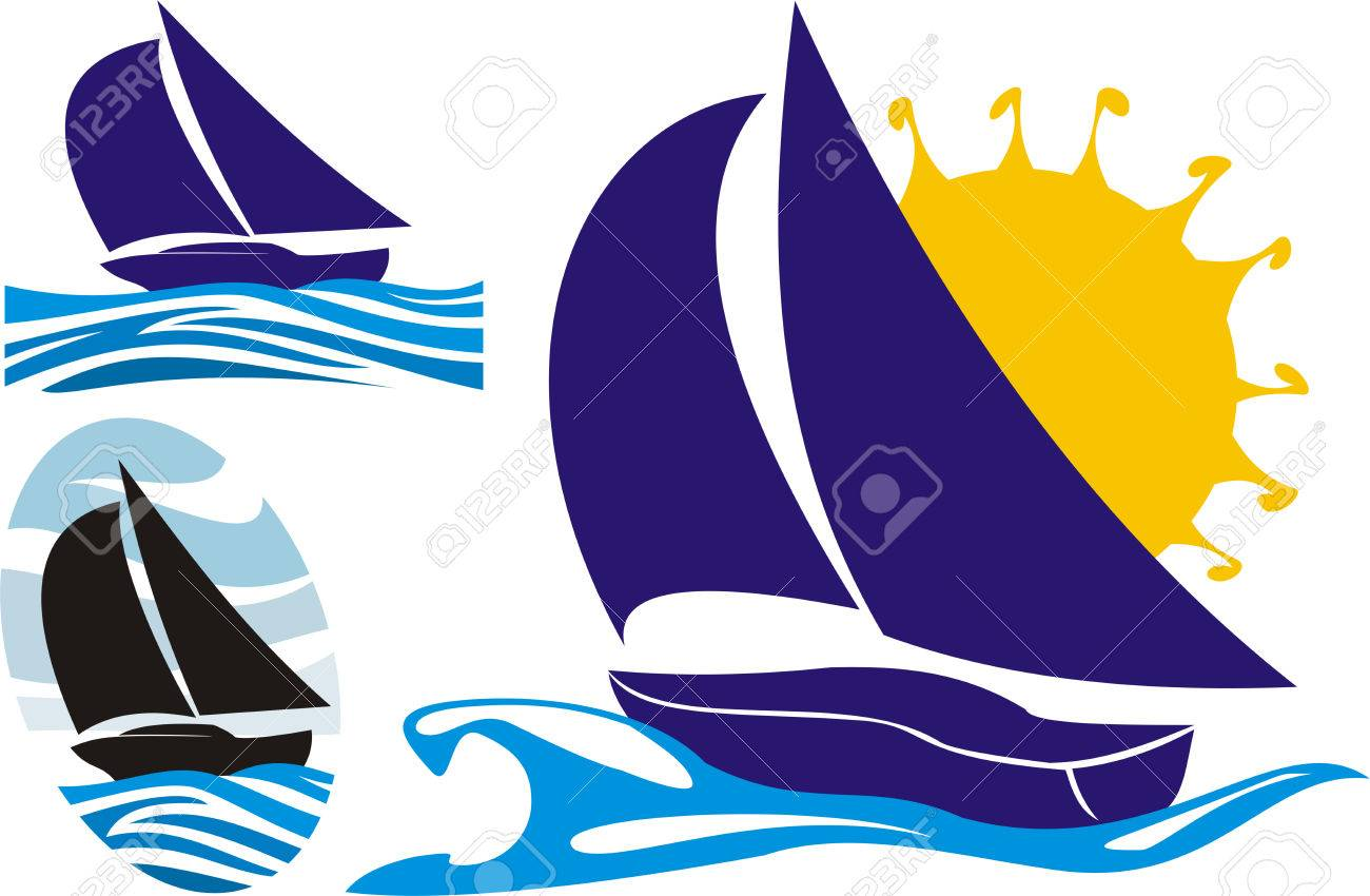 yachting logo Stock Vector - 8852663