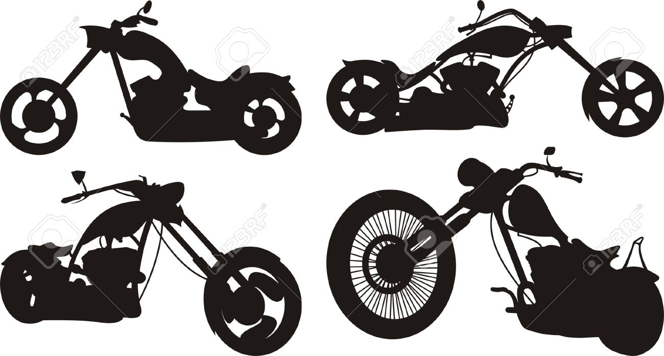 motorcycle silhouette royalty free cliparts vectors and stock rh 123rf com