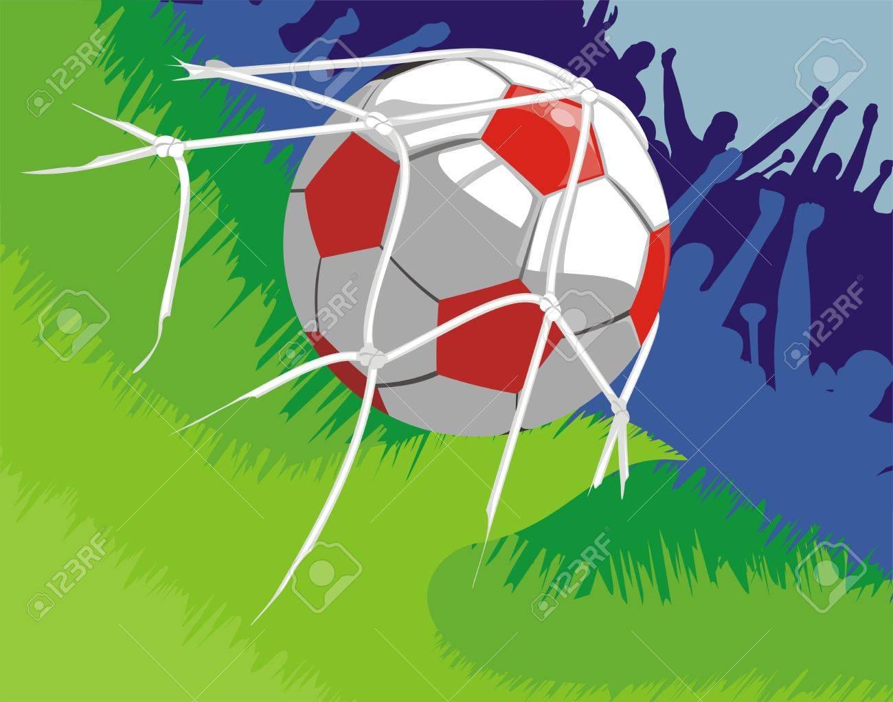soccer - joy after goal scored Stock Vector - 11944062