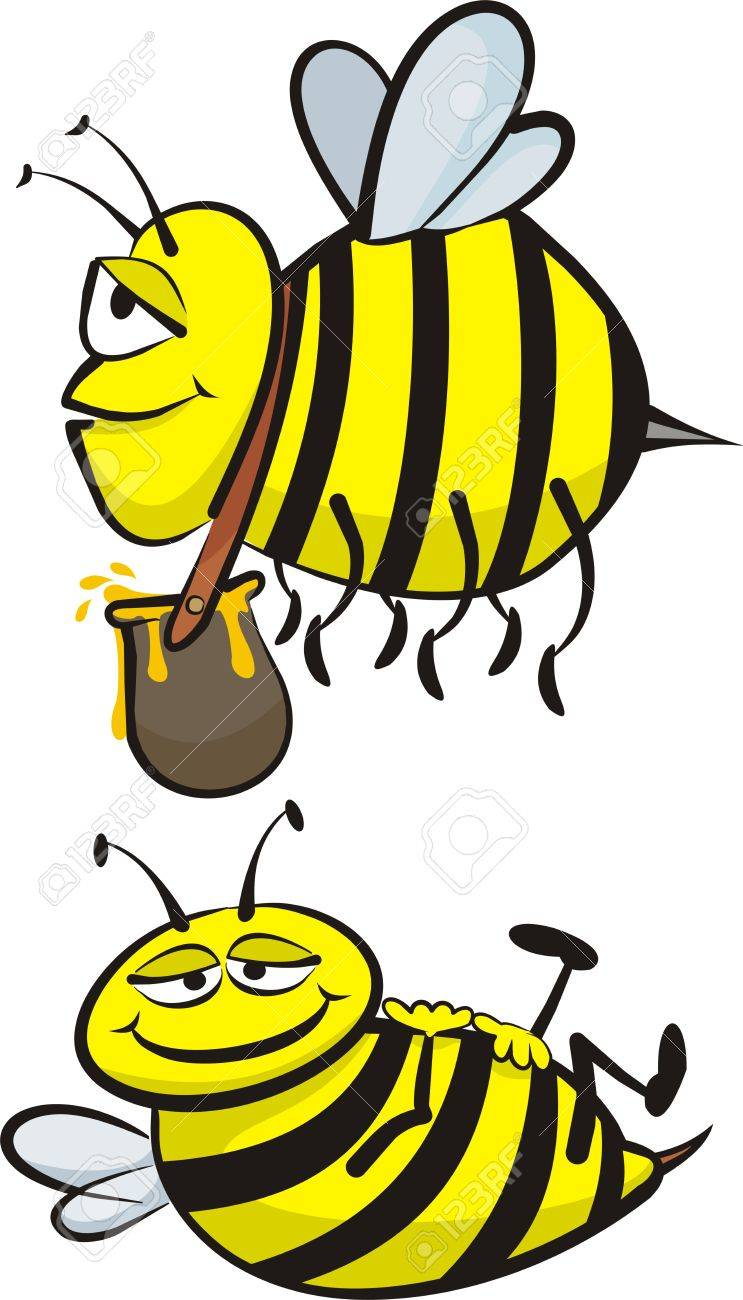 industrious and lazy bee Stock Vector - 12461751