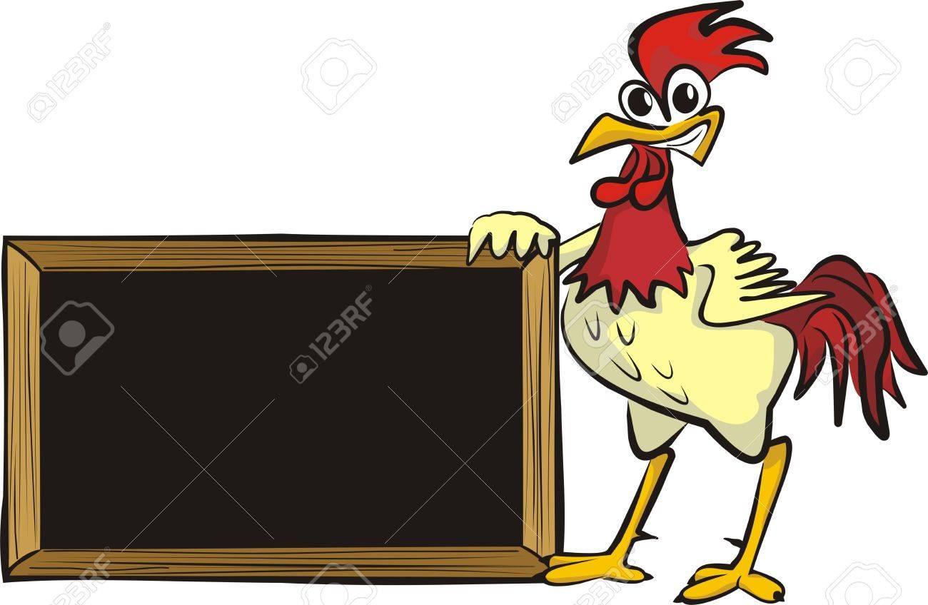 encourages cock - blank board Stock Vector - 12461766