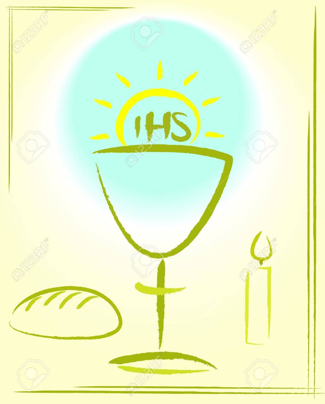 my first holy communion - background Stock Vector - 16327033
