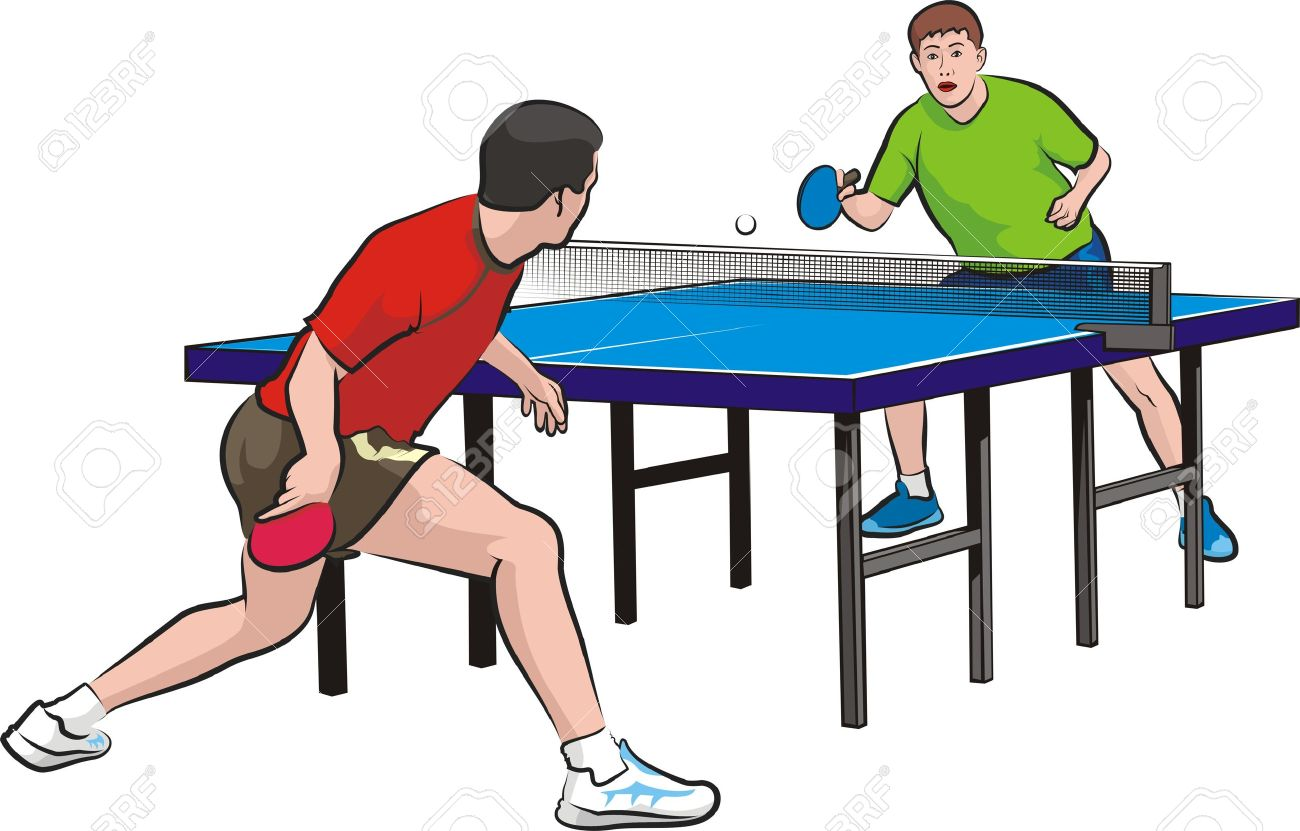 Two Players Play Table Tennis Royalty Free Cliparts Vectors And Stock Illustration Image 16804074