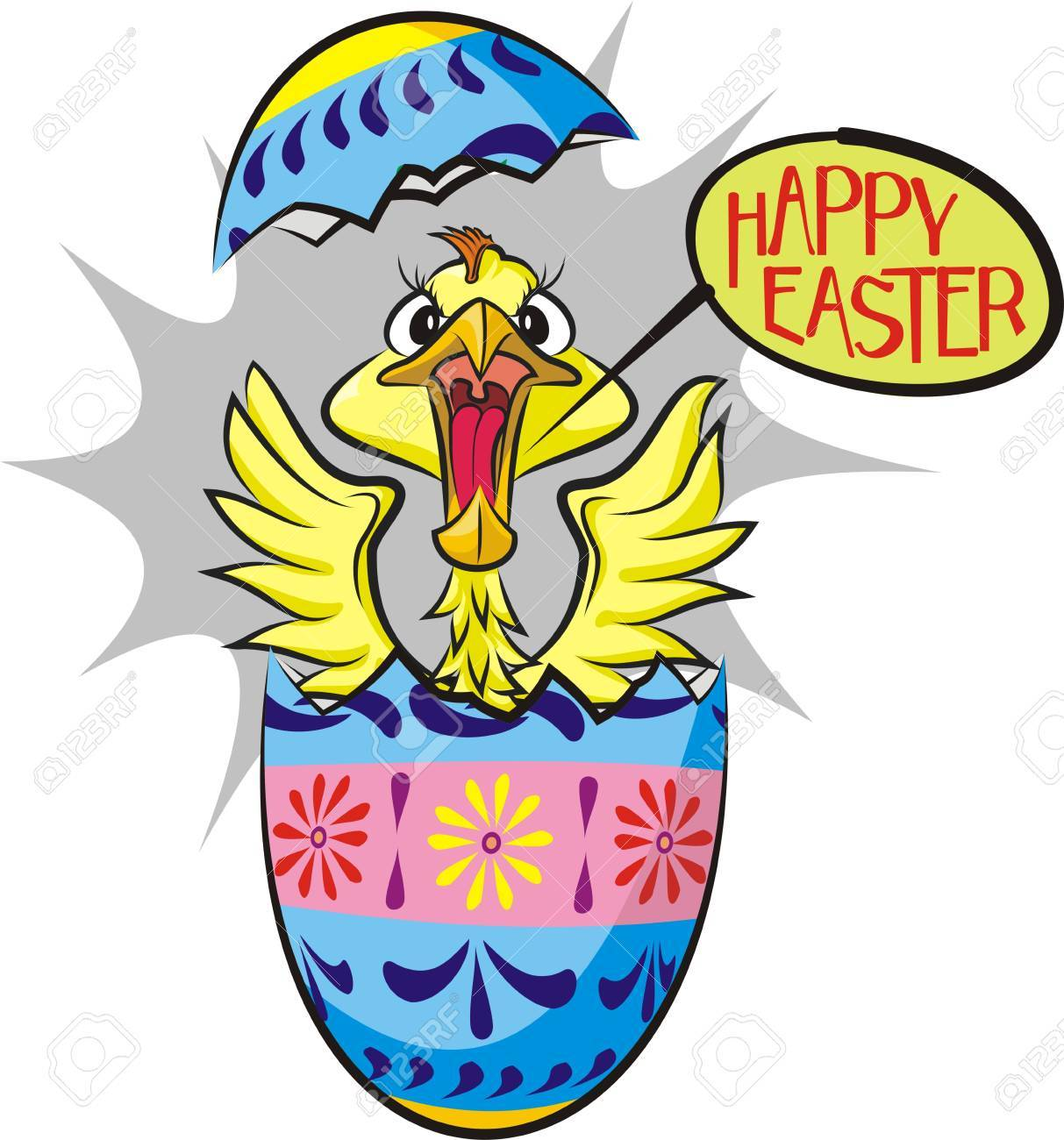 surprise egg - happy easter Stock Vector - 17977036