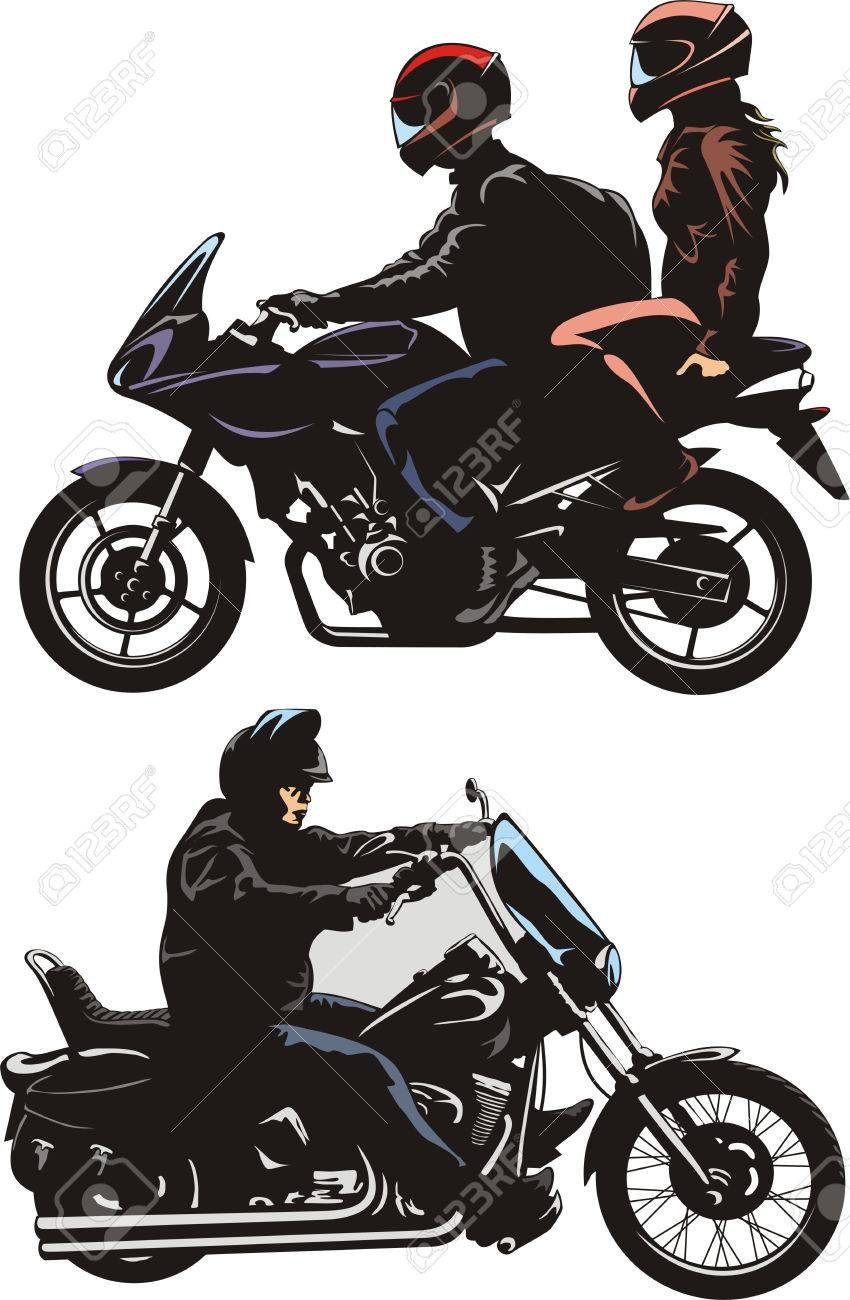 couple and man ride a bike royalty free cliparts vectors and stock