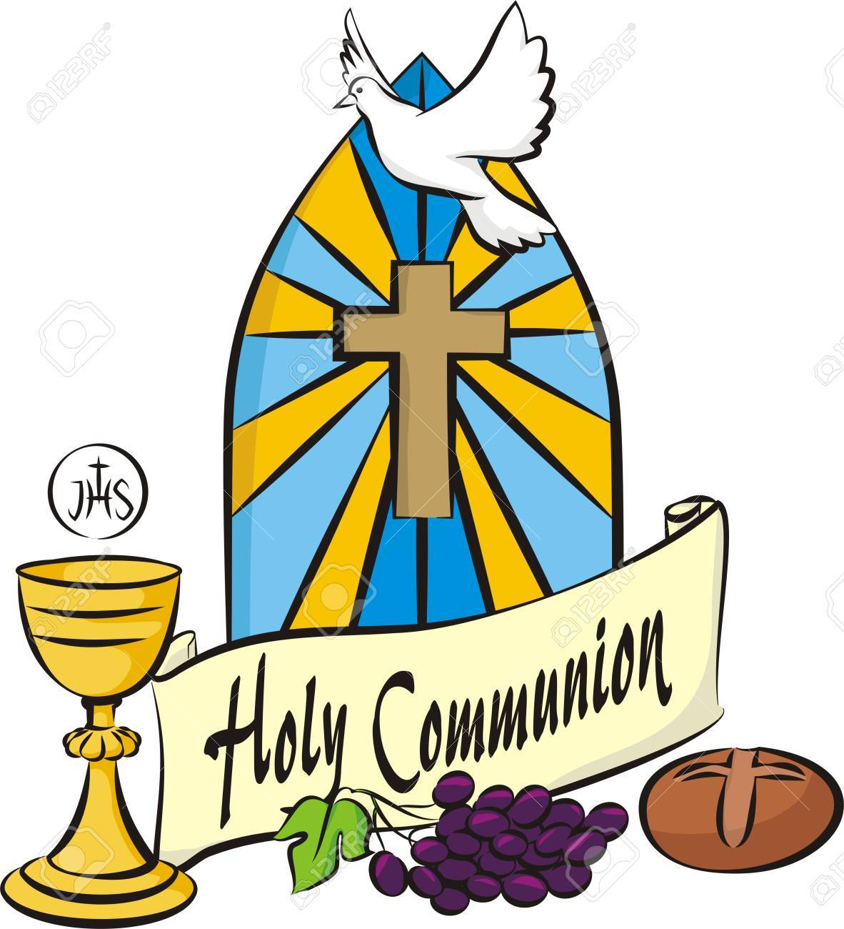 holy communion vector items royalty free cliparts vectors and rh 123rf com holy communion clip art church holy communion clip art images