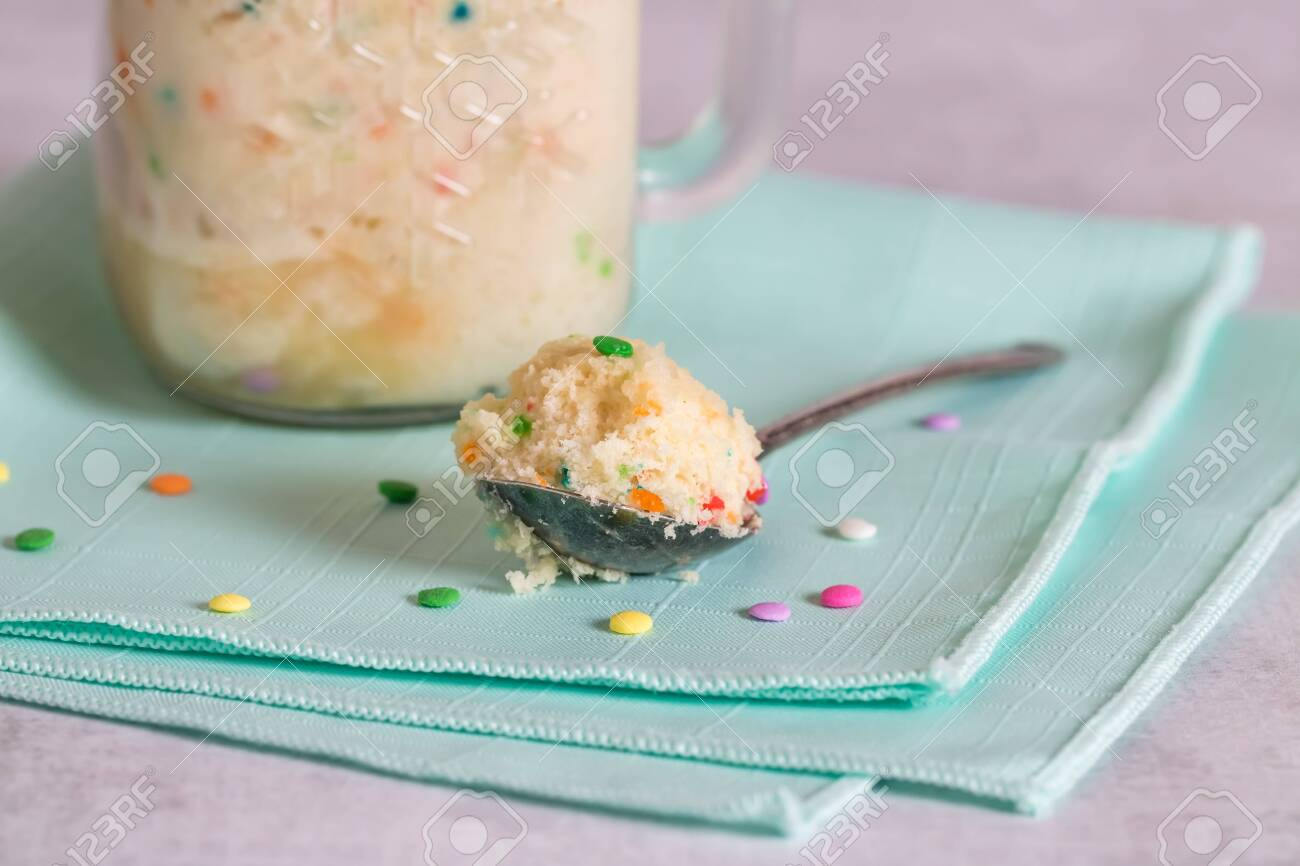 Surprising A Close Up View Of A Spoon Full Of Confetti Birthday Cake With Funny Birthday Cards Online Fluifree Goldxyz