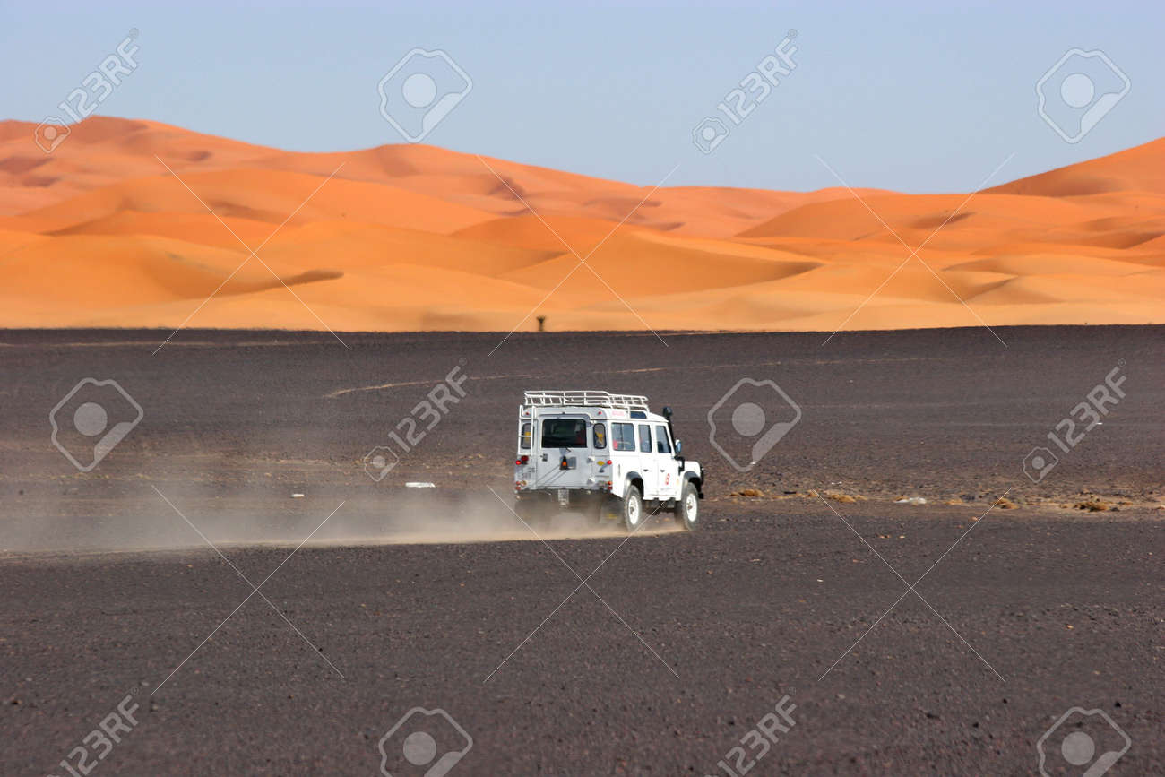 4wd in the sahara, morocco Stock Photo - 357906