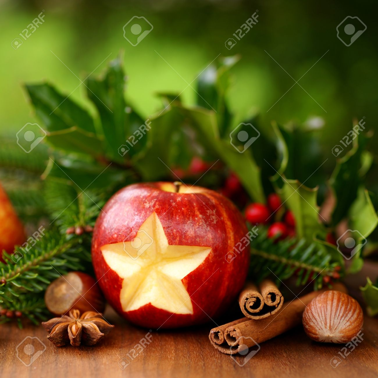 Christmas Apple Stock Photo, Picture And Royalty Free Image. Image ...