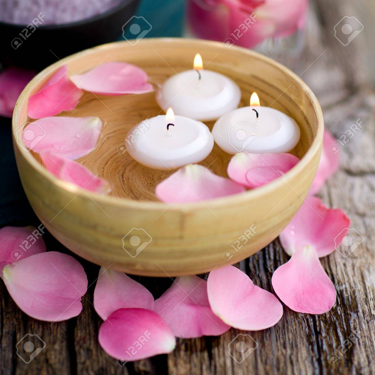 Wellness symbols with candles Stock Photo - 14929946