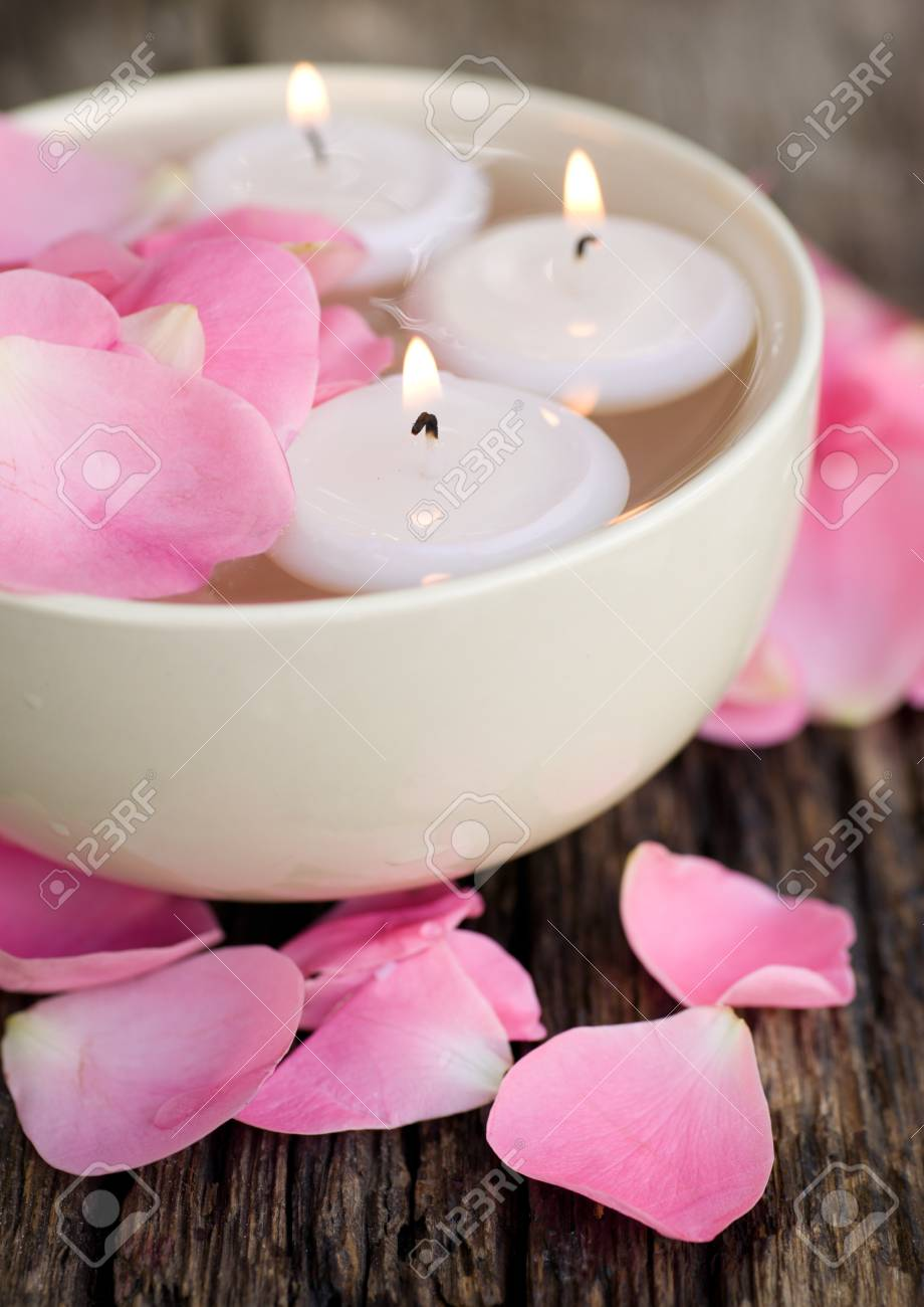 Wellness symbols with roses Stock Photo - 14929959