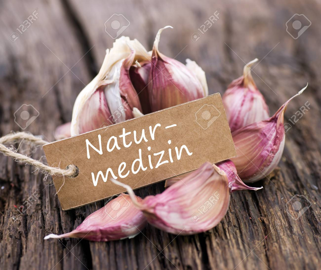 Label with german text  Natural medicine Stock Photo - 17994527