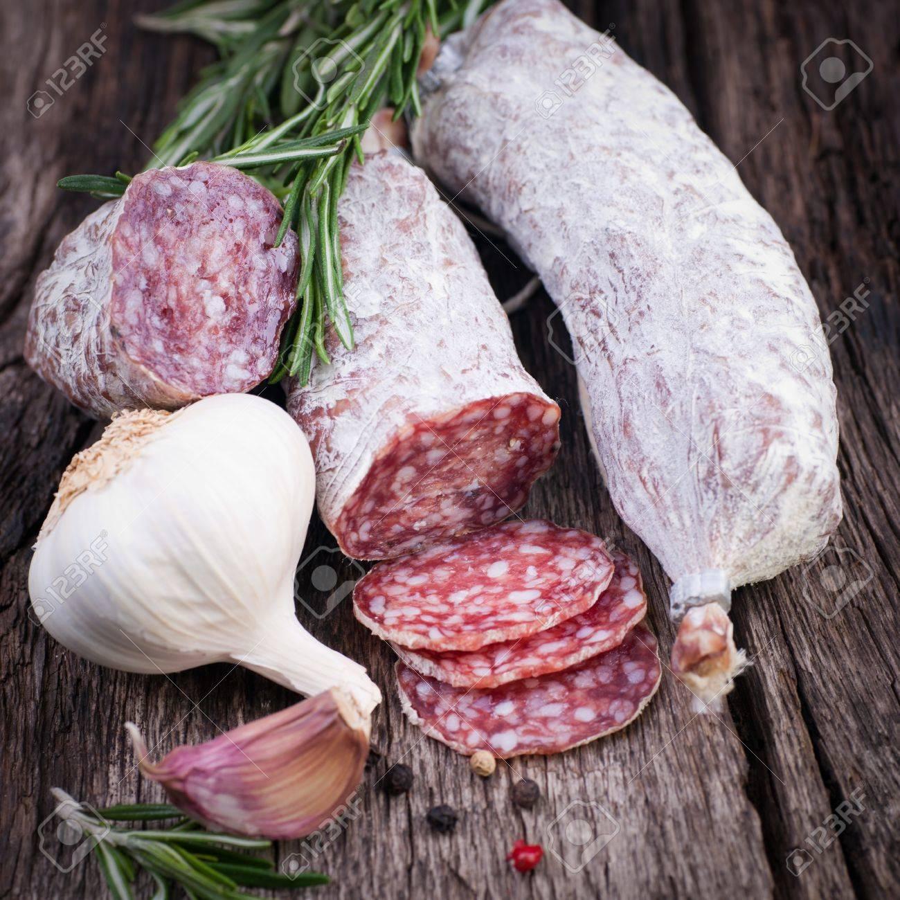 Air dried salami Stock Photo - 18707161