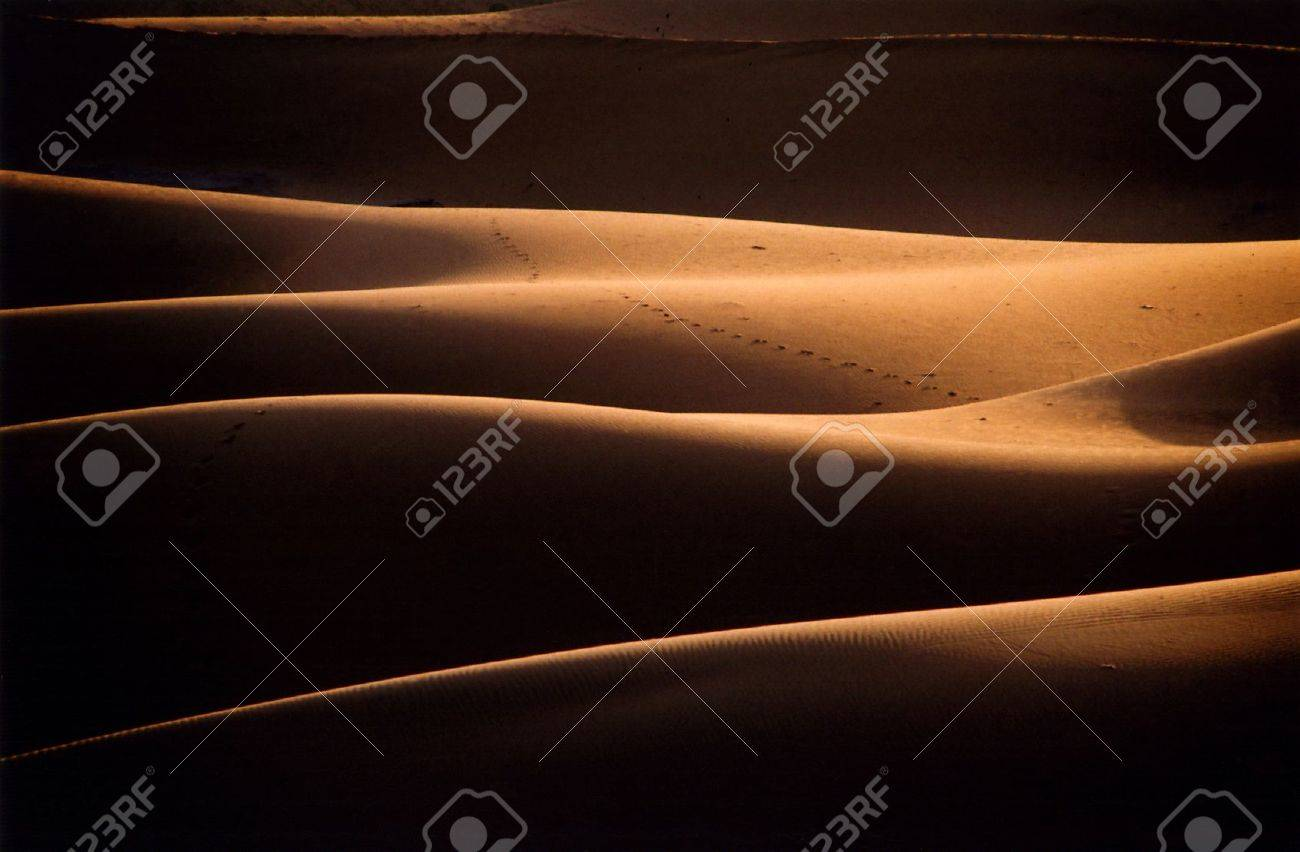 Chigaga Sand Dunes, Morocco, Western Sahara Stock Photo - 10777046