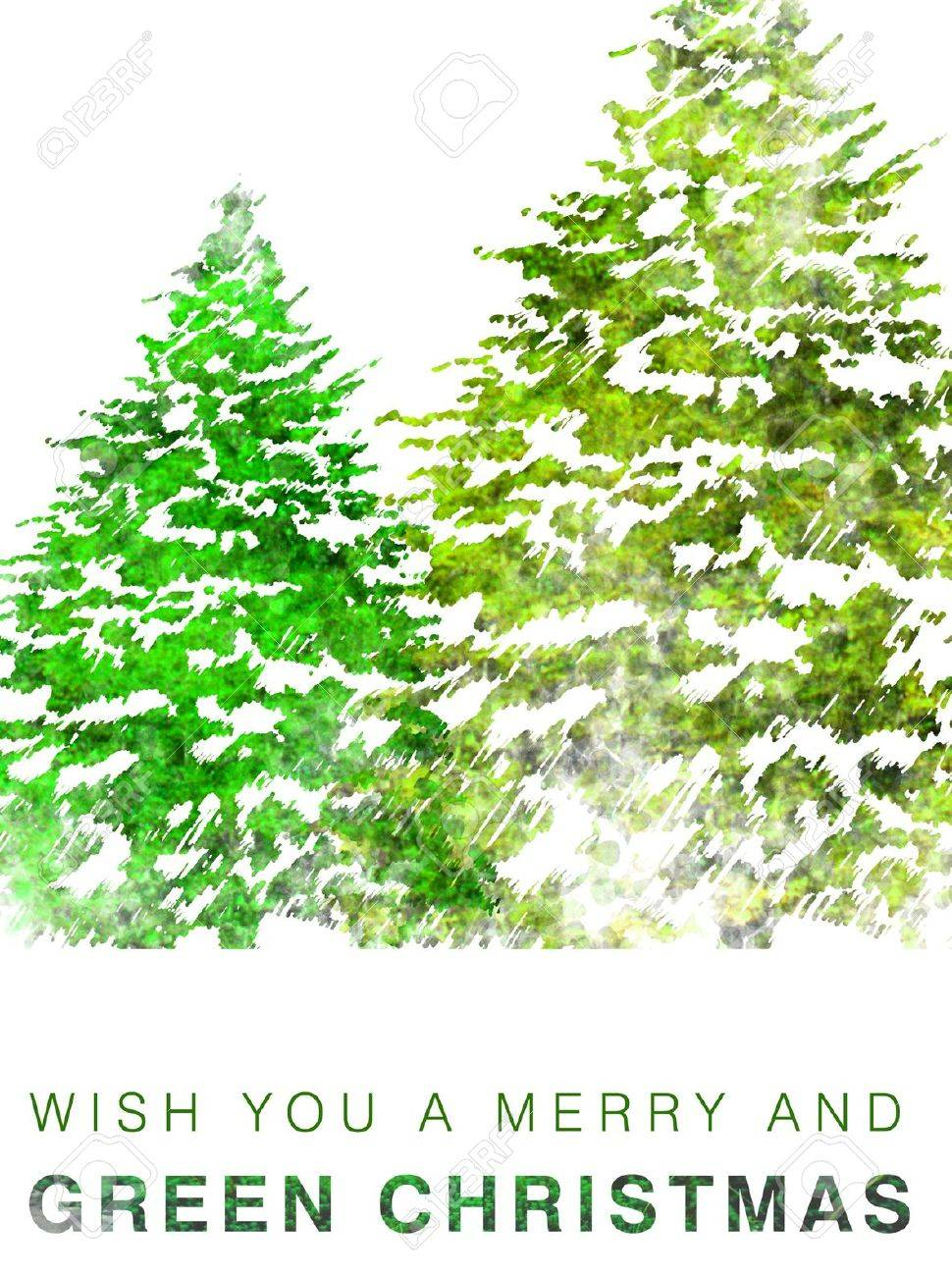 Eco Friendly Christmas Card Stock Photo, Picture And Royalty Free ...