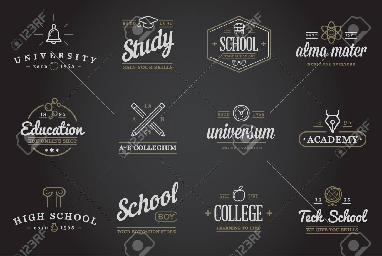 Set of Education Icons Illustration - 50253589