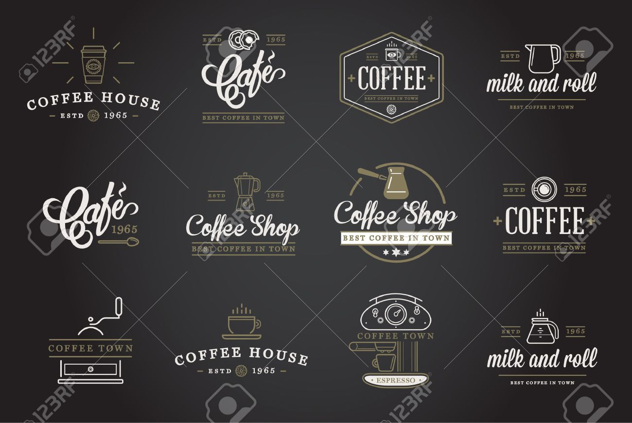 Set of Coffee Elements and Coffee Accessories Illustration - 50181641