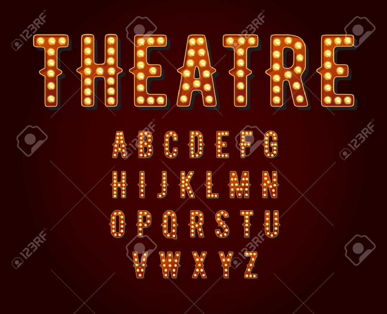 Casino or Broadway Signs style light bulb Alphabet - 50181014