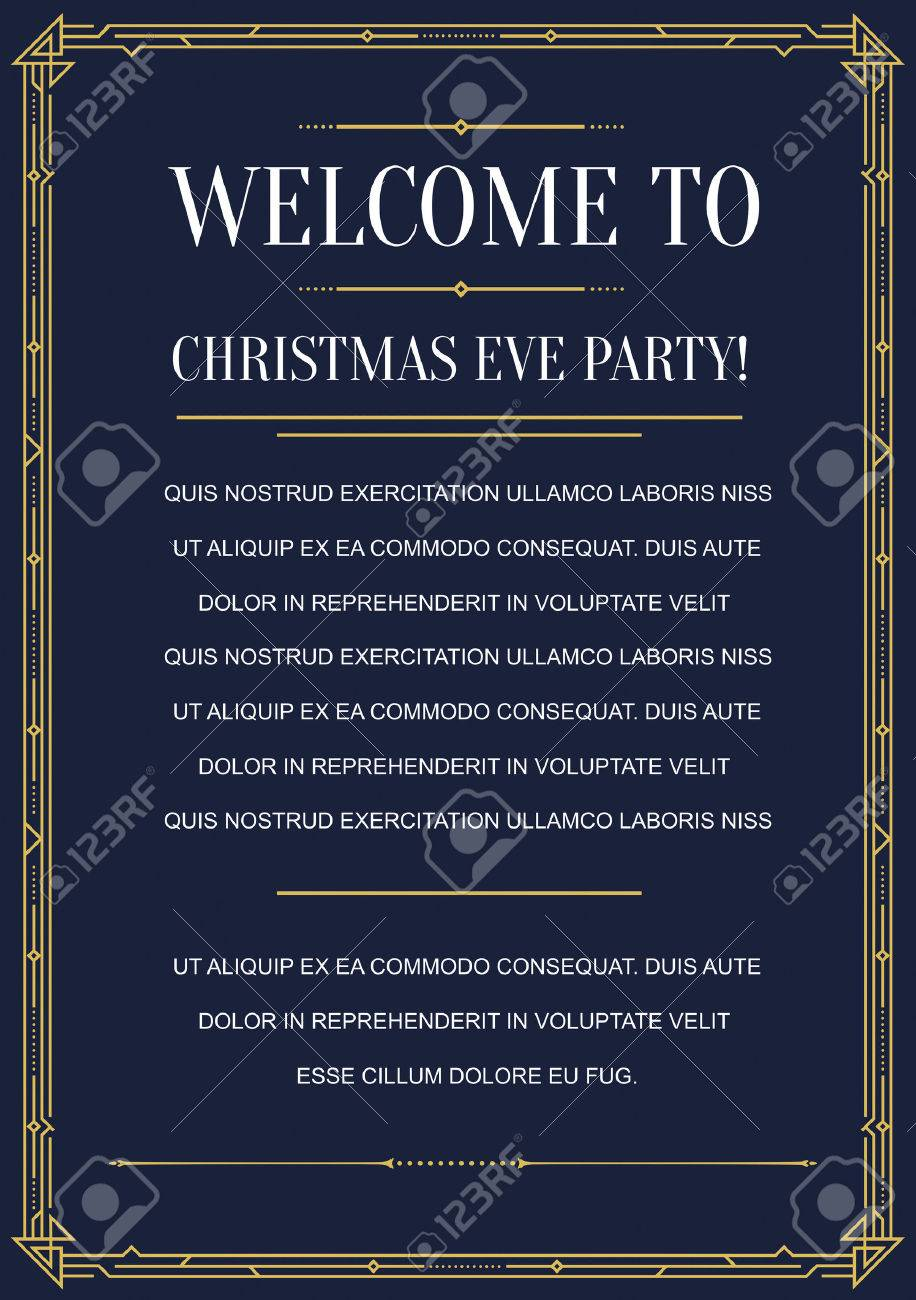 Gatsby style invitation in art deco or nouveau epoch 1920s gangster gatsby style invitation in art deco or nouveau epoch 1920s gangster era vector stock vector stopboris Image collections
