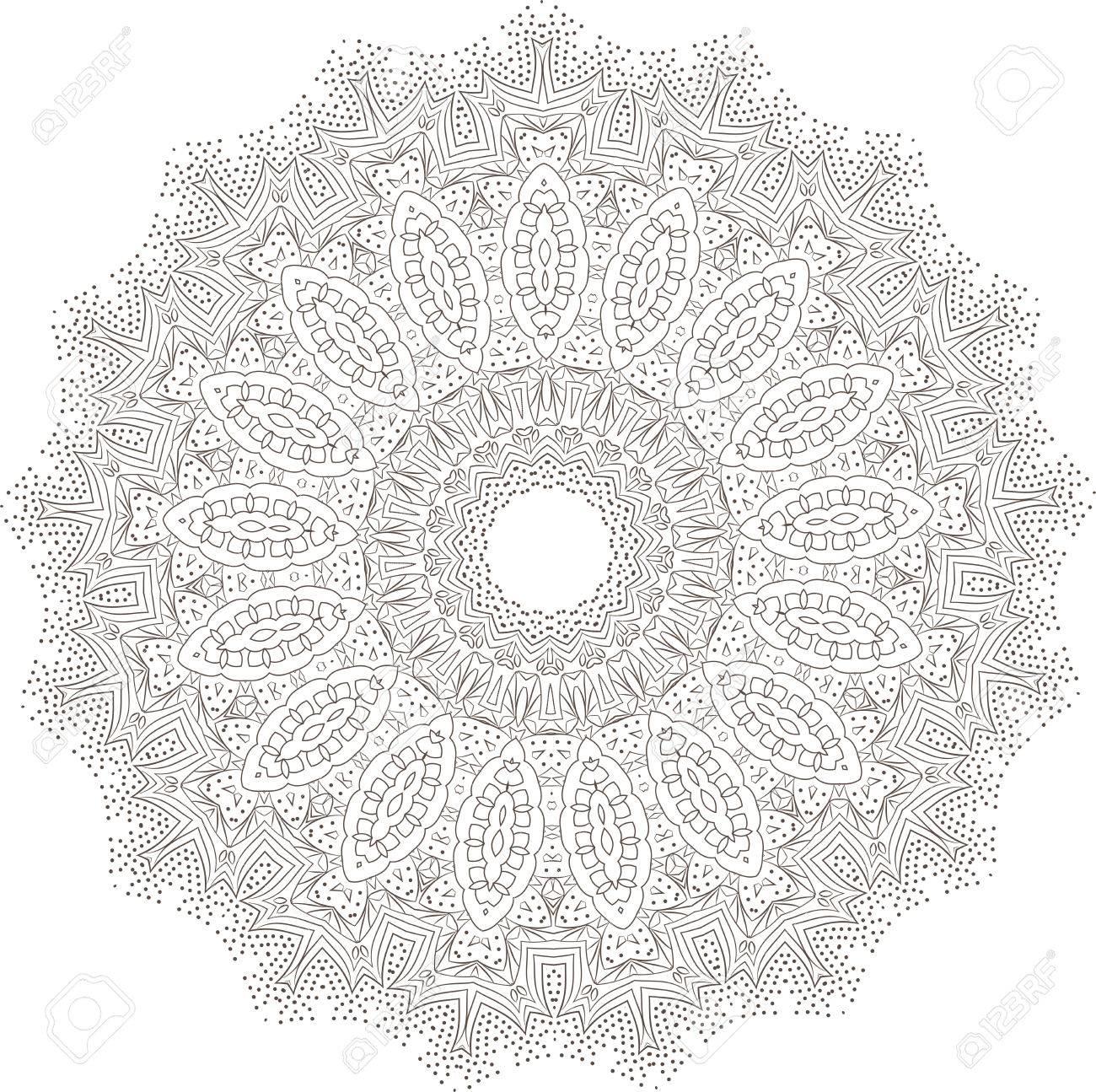 Tnica Del Fractal De La Mandala De La Meditación Del Vector Se Ve ...