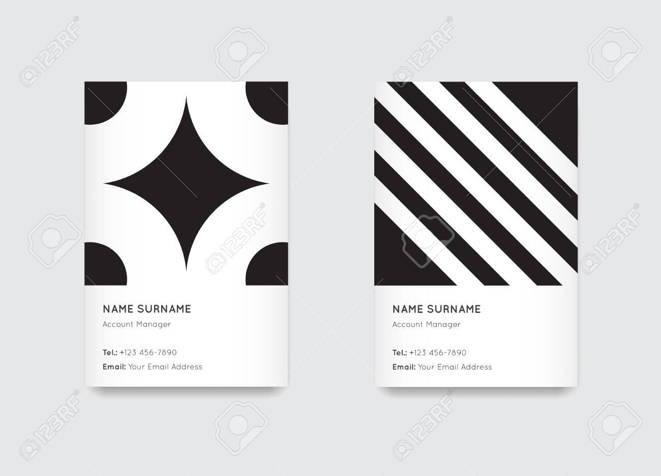 Vector Minimal Propaedeutics Black And White Graphic Trendy Vertical