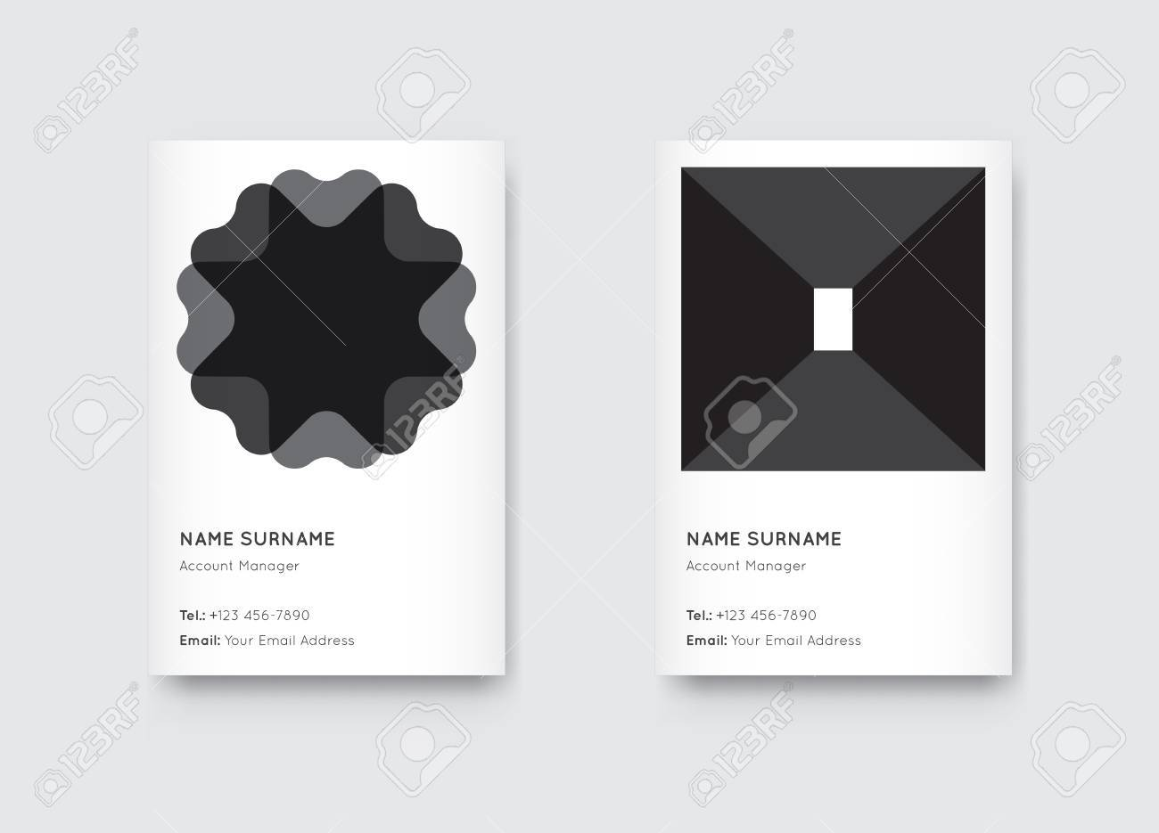 Vector Minimal Black And White Graphic Trendy Vertical Business