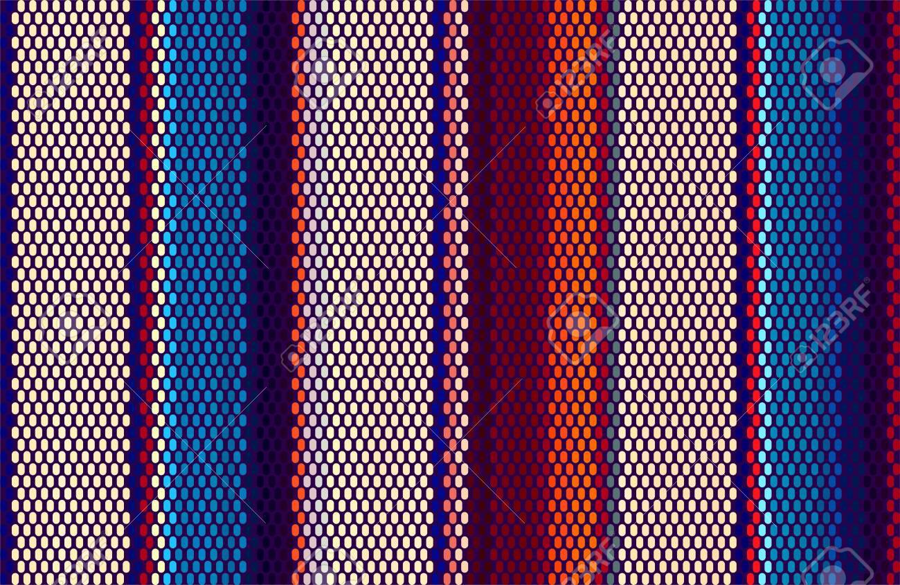 Blanket Stripes Seamless Vector Pattern. Cinco de Mayo. Serape Style. Ethnic Mexican Fabric Pattern. - 157290813