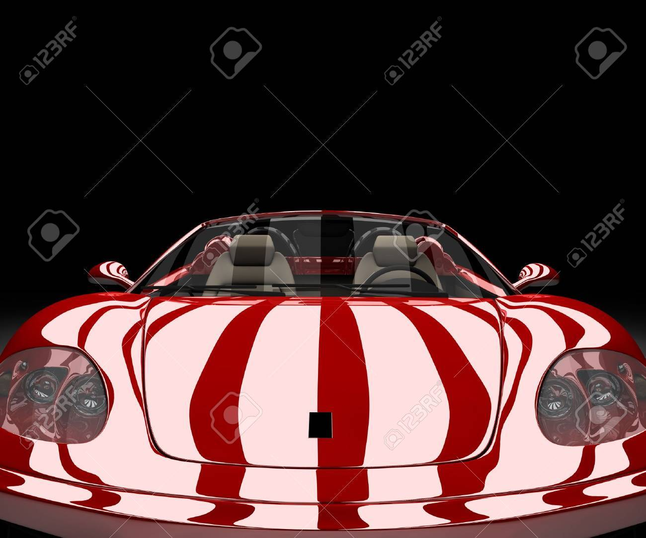 A front red car Stock Photo - 5340954