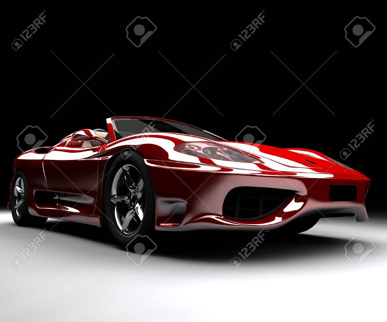 A front red car Stock Photo - 5340921