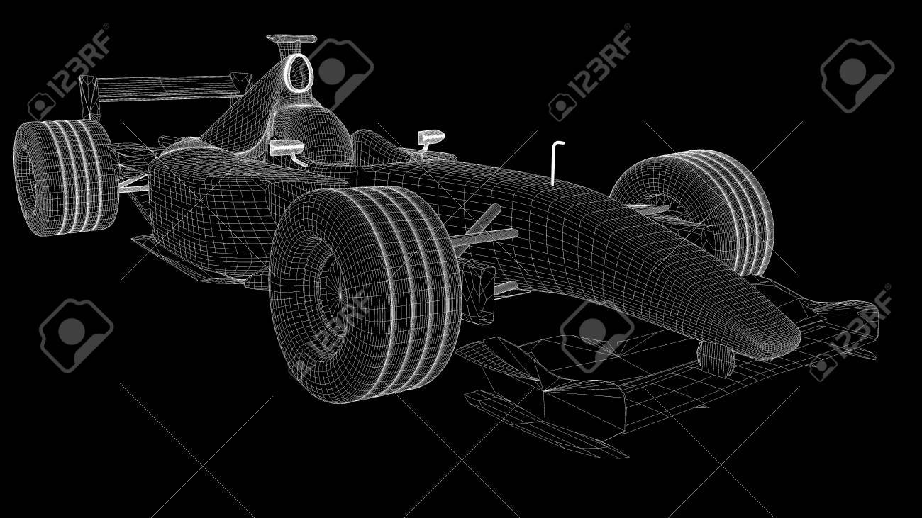 A wireframe of a formula one car Stock Photo - 6729811