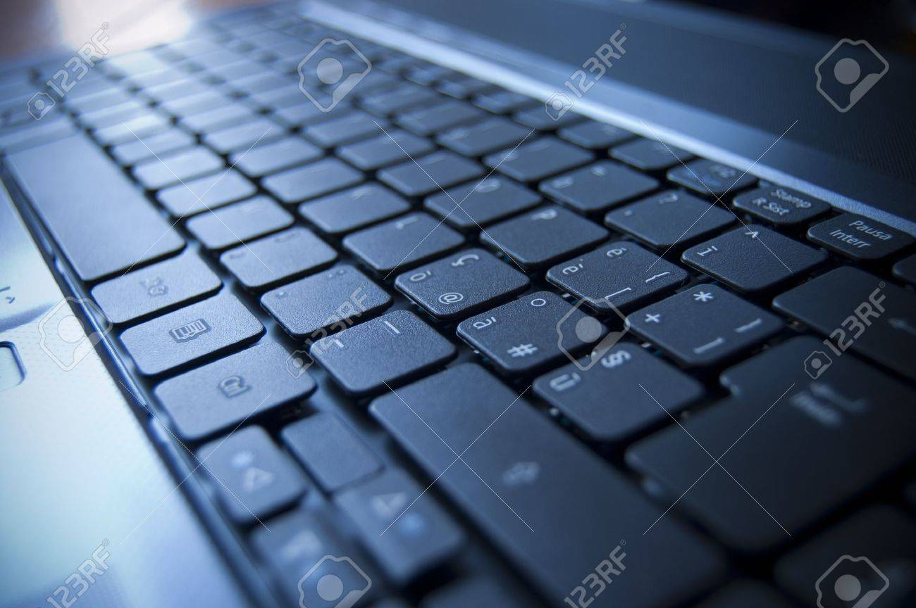 Close up on a black keyboard of a laptop Stock Photo - 7281068