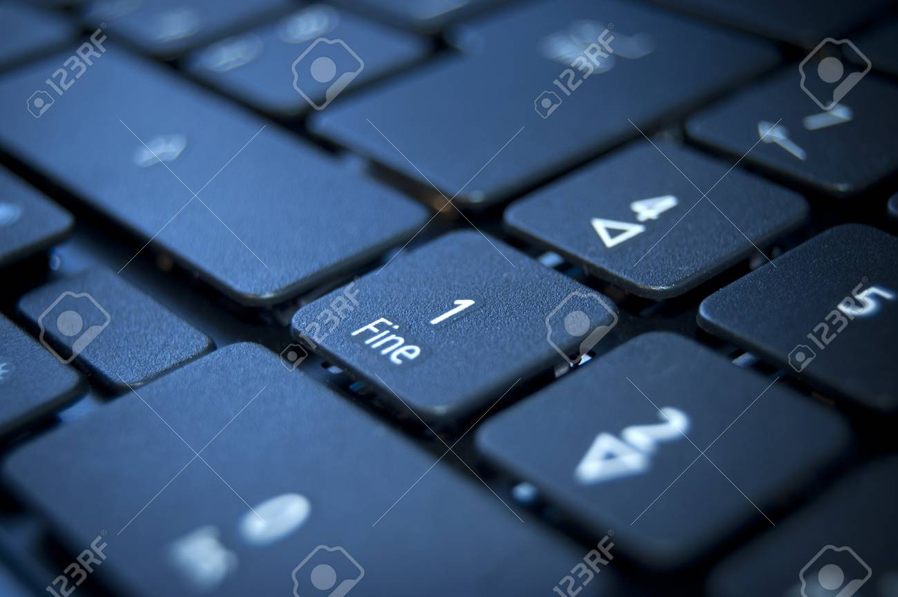 Close up on a black keyboard of a laptop Stock Photo - 7281070
