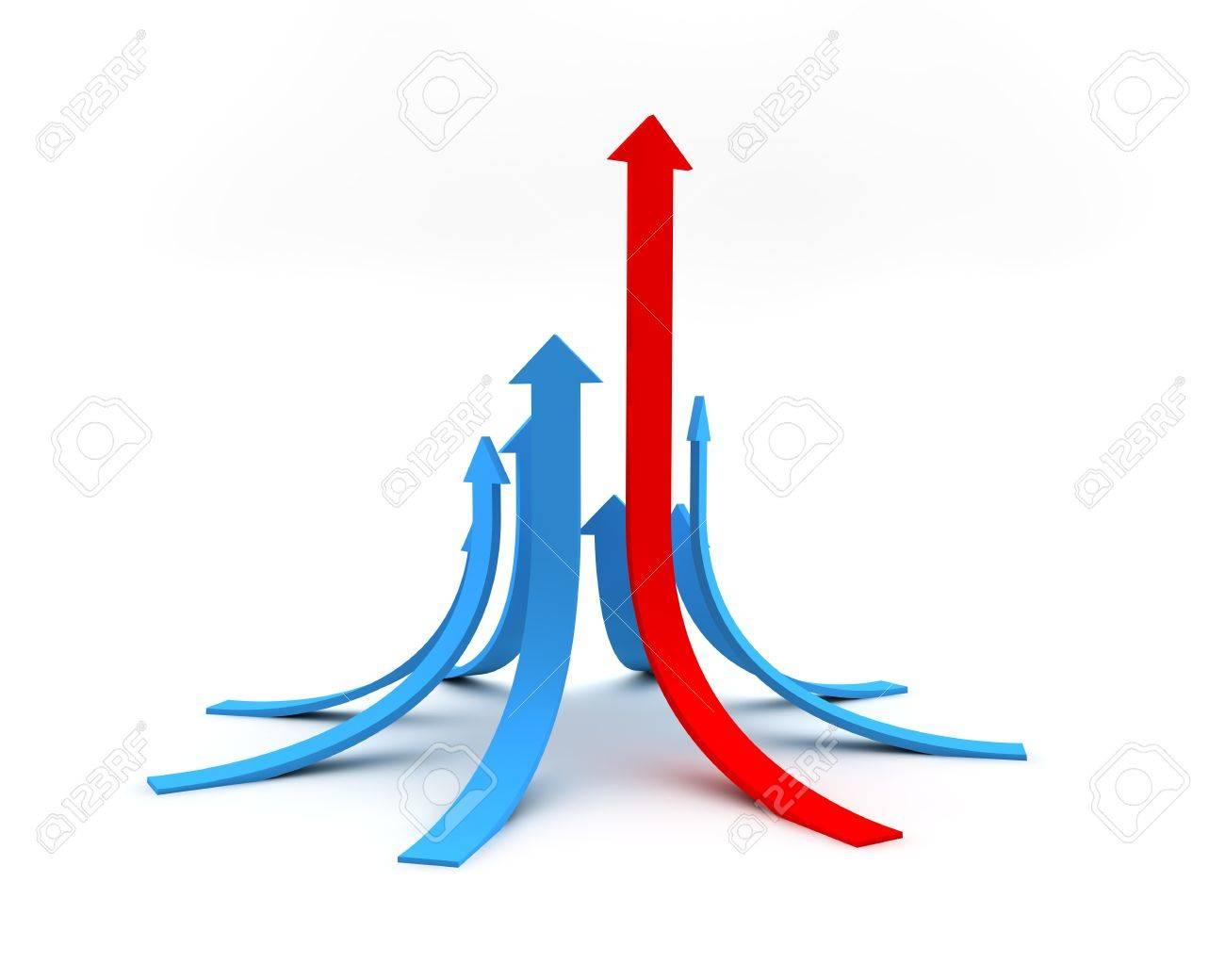 Illustration of arrows directed upwards as success Stock Illustration - 8833186