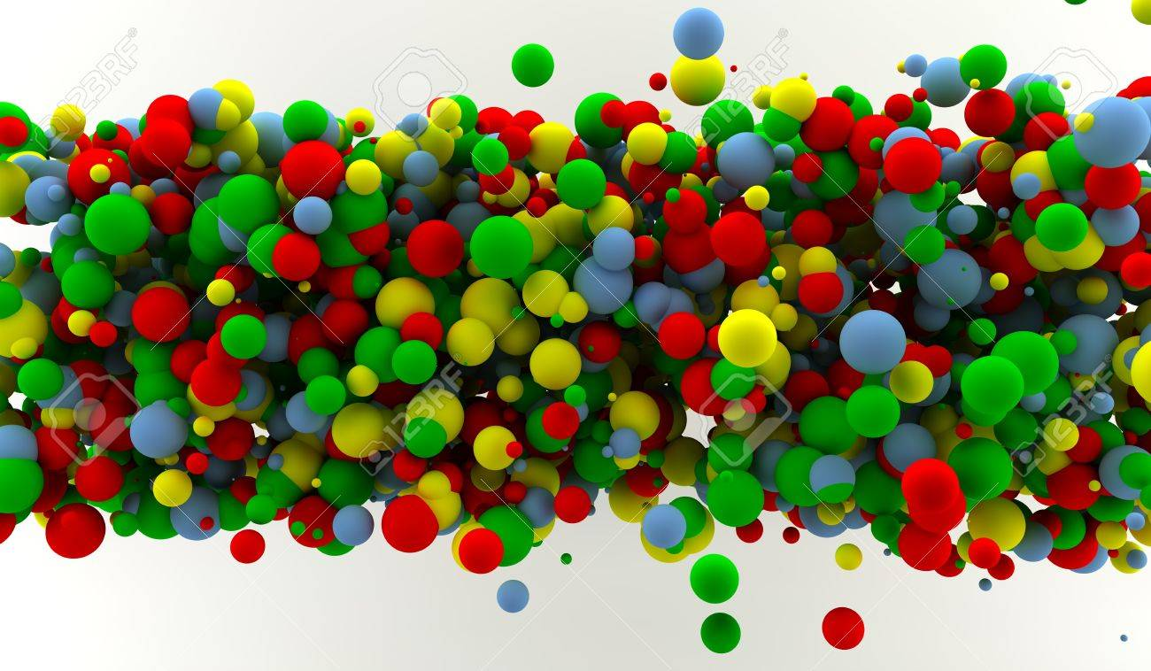 Abstract background with many colored spheres Stock Photo - 9356933