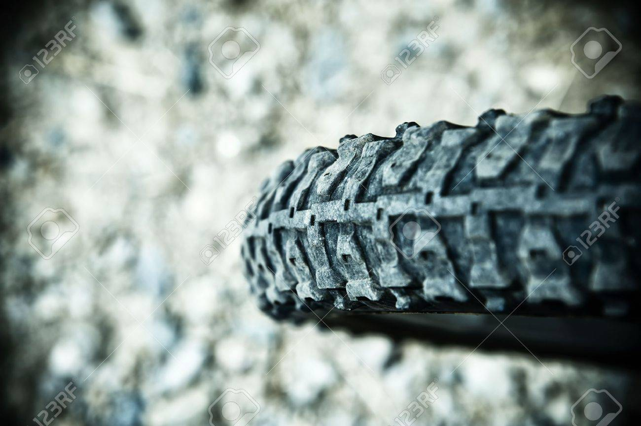 A close up of a back bike tire Stock Photo - 9754015