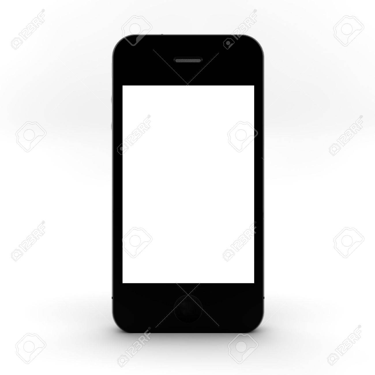 Mobile phone with blank screen for copy space Stock Photo - 10545345