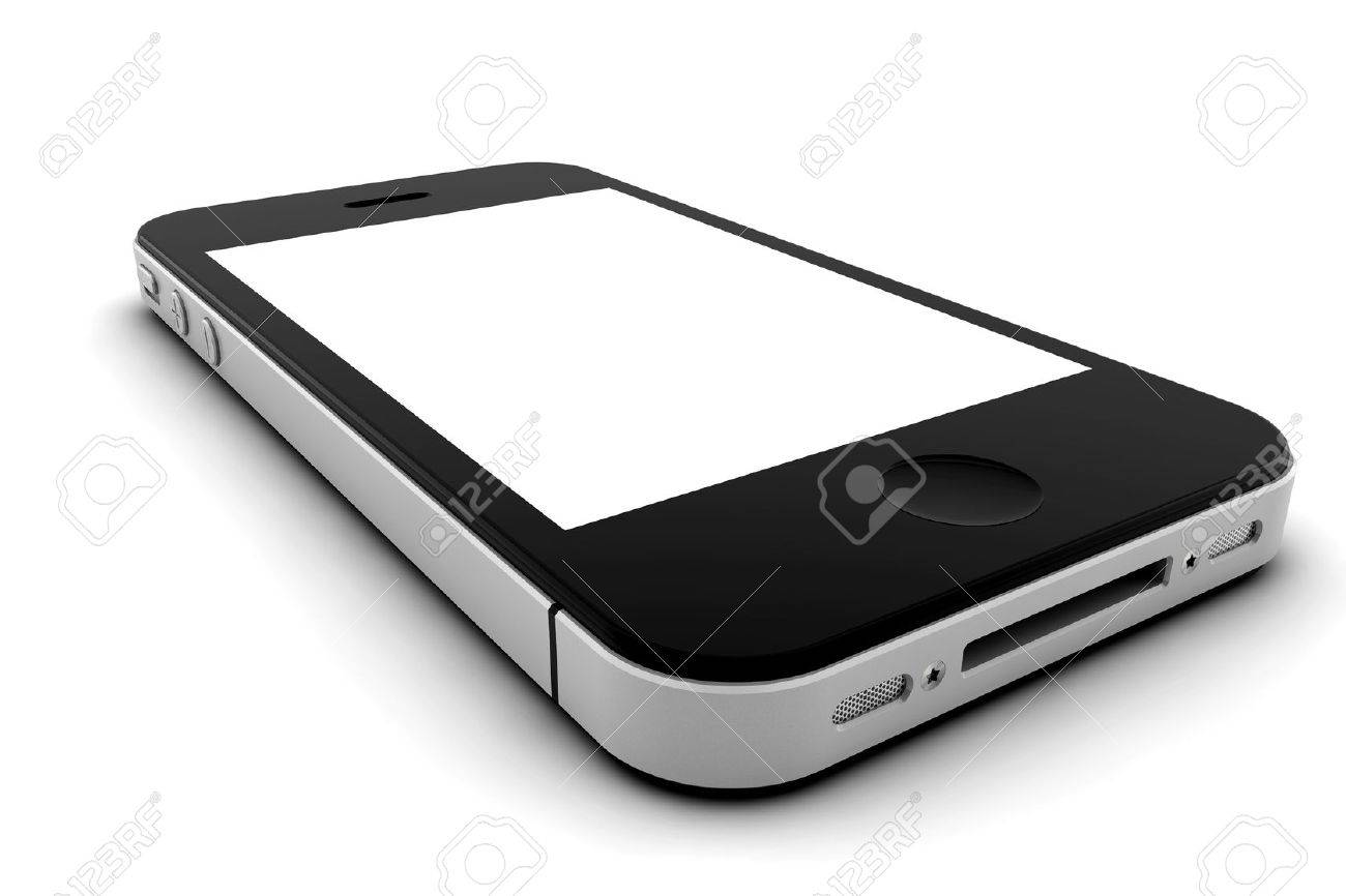 Mobile phone with blank screen for copy space Stock Photo - 10549632