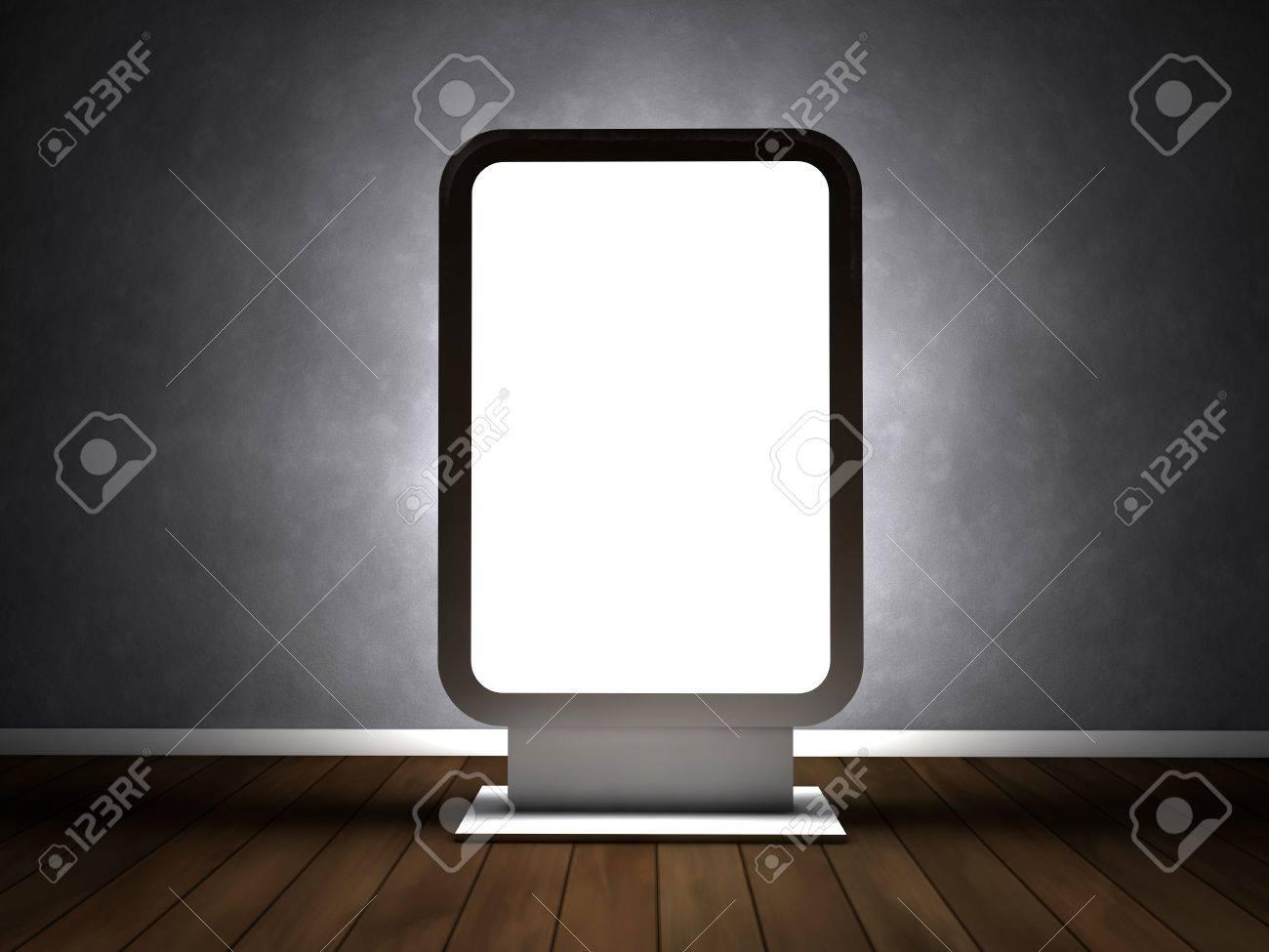 Blank advertising billboard in empty room Stock Photo - 14698781
