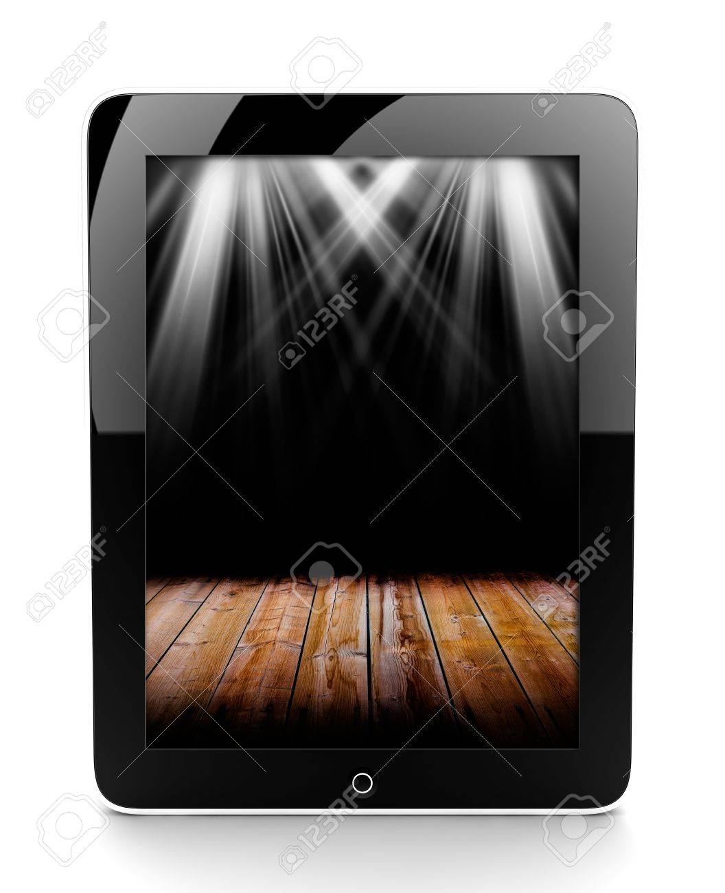 A tablet isolated on a white background with lights Stock Photo - 17990731