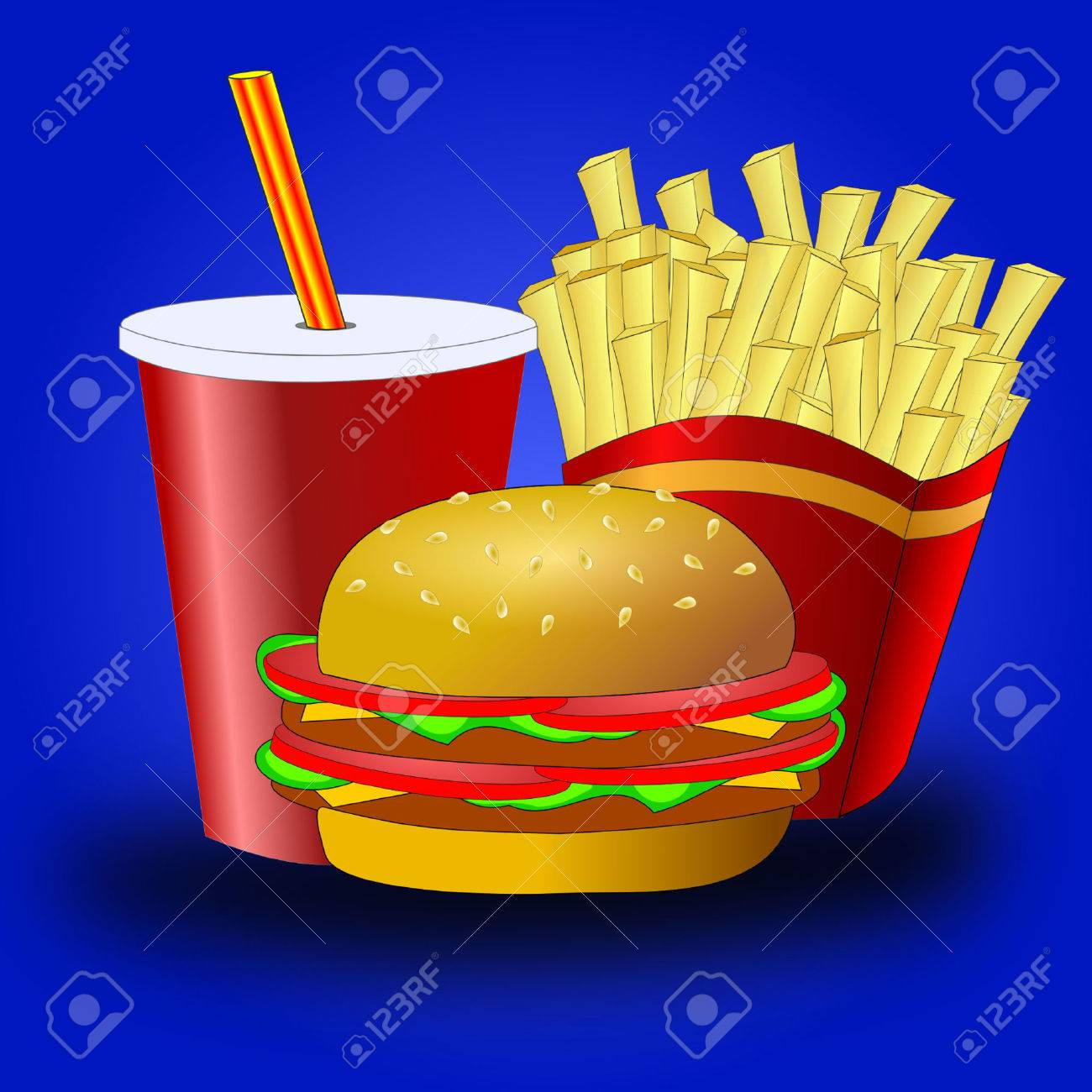 Fast food Stock Vector - 7885085