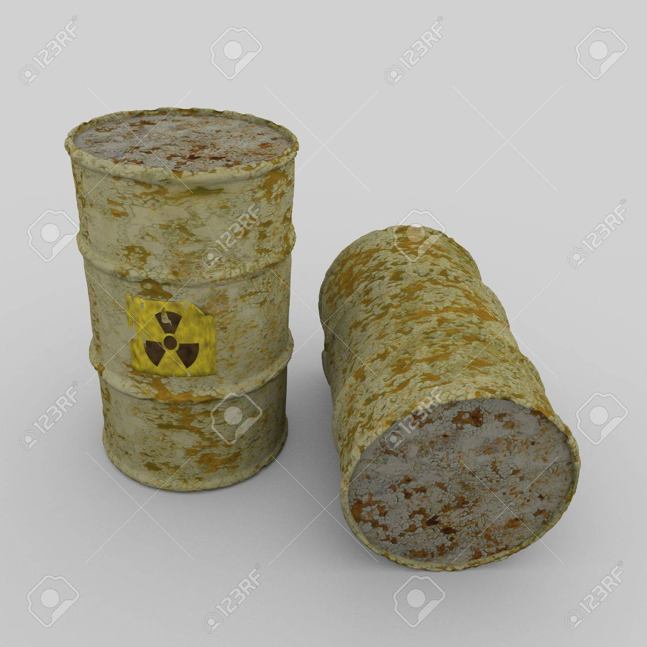 Radioactive barrels Stock Photo - 9552855