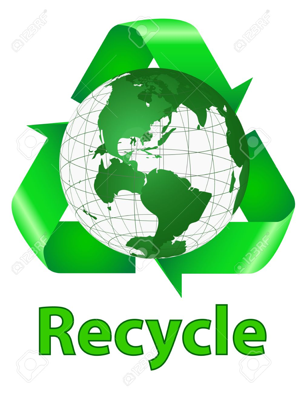 Recycle symbol behind the earth with words recycle royalty free recycle symbol behind the earth with words recycle stock vector 20075137 biocorpaavc