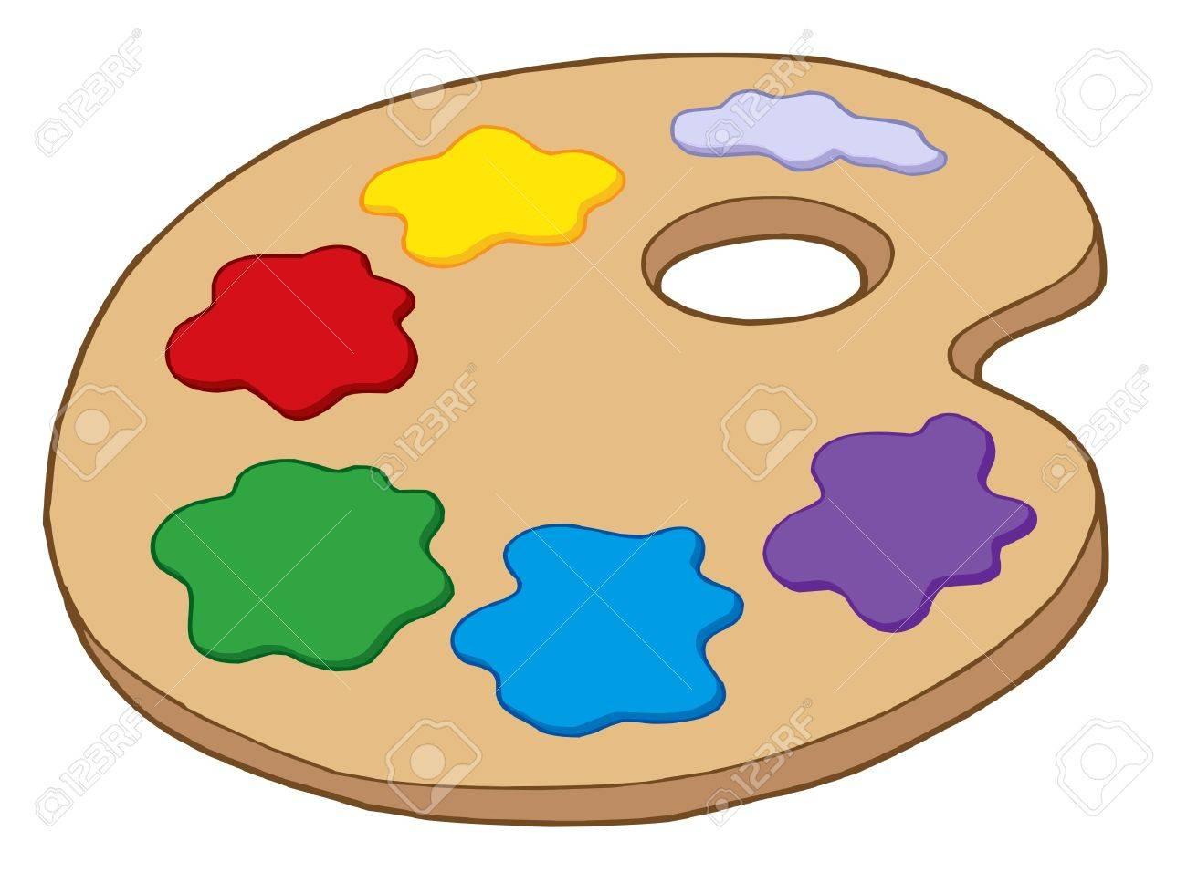 Cartoon Art Pallet  cartoon  pallet  paint