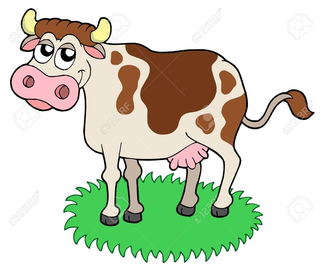 Cute cow - vector illustration. Stock Vector - 4012150