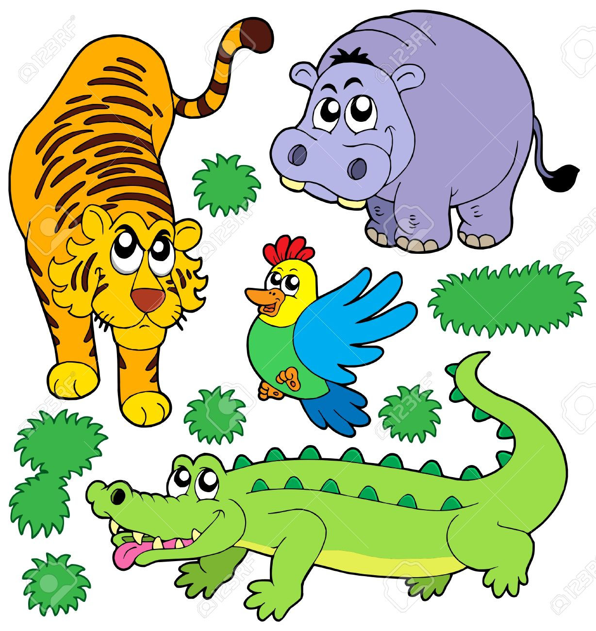 ZOO animals collection 5 - vector illustration. Stock Vector - 4016193
