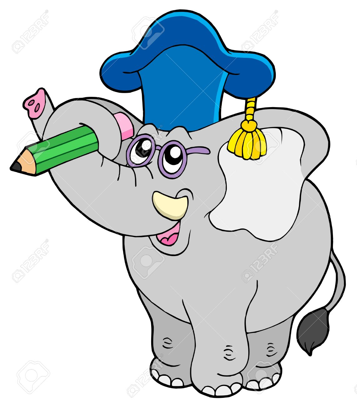 4141963-Writing-elephant-teacher-vector-