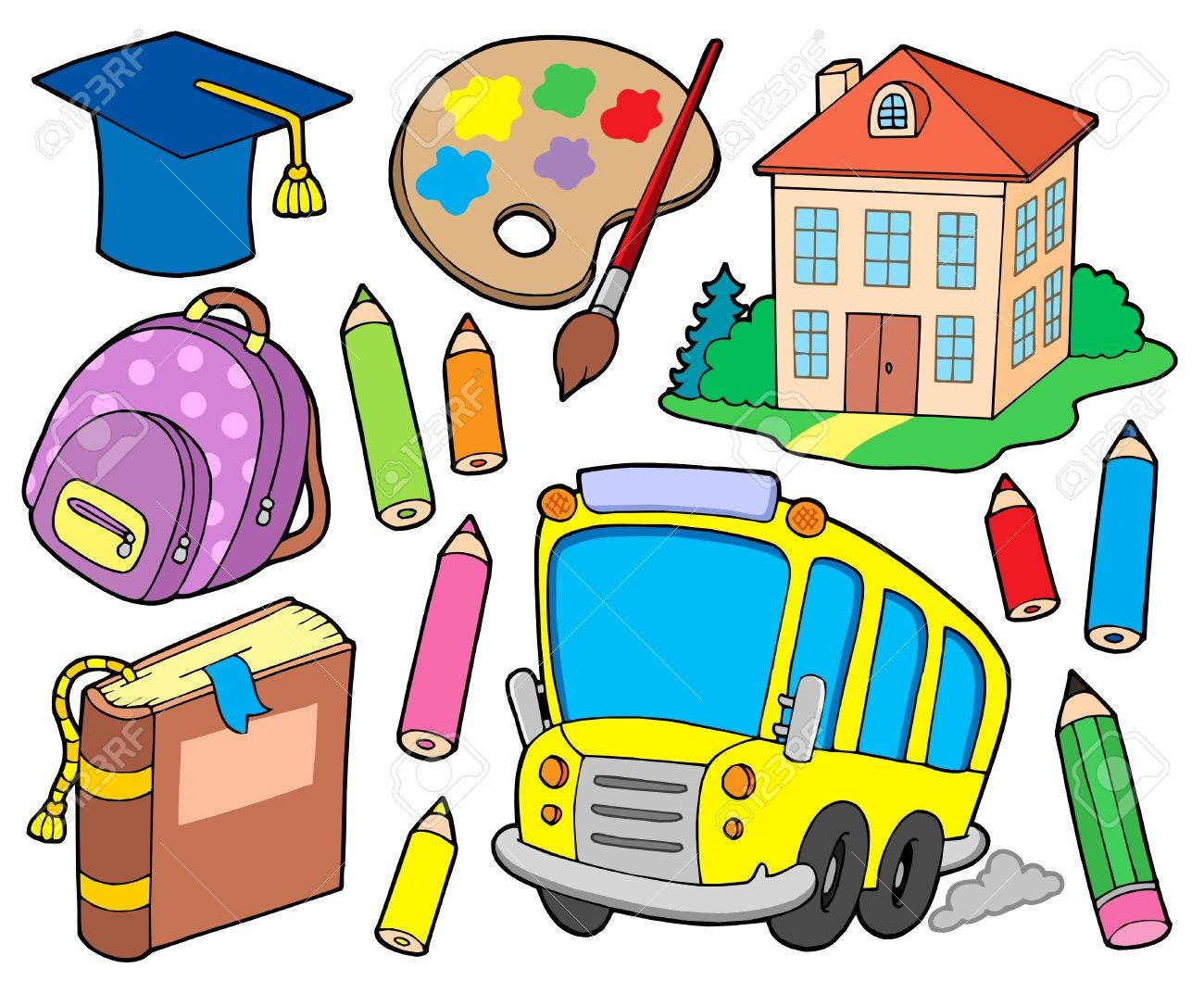 School collection 1 - vector illustration. Stock Vector - 4141986